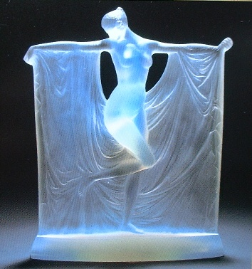 ['Suzanne' an Opalescent Glass Figure,Design 1925 modelled as a Female nude ]
